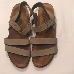 NAOT Beige Genuine Leather Sandals Sz 40